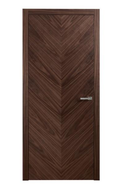 drzwi fornirowane orzech jodełka LYT1